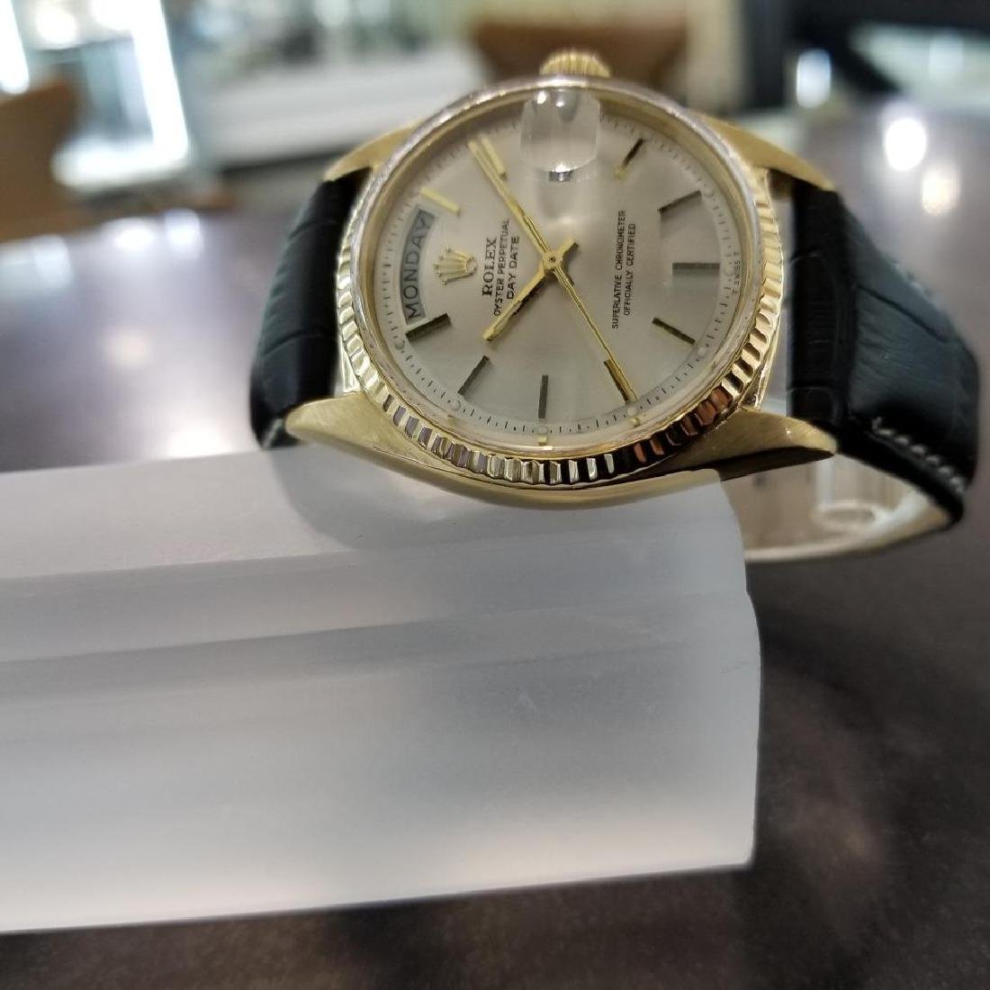 Rolex Vintage Mens 1966 President 1803 Swiss Made 18k - 6