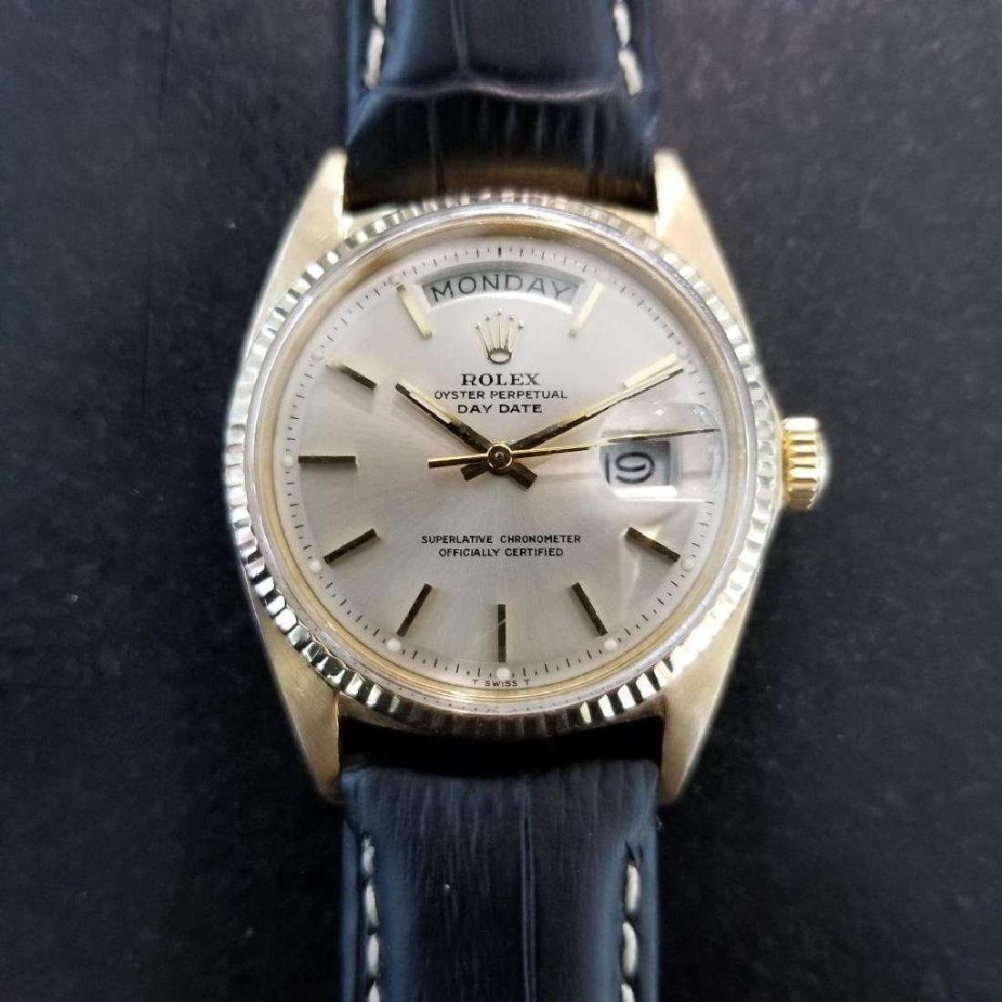 Rolex Vintage Mens 1966 President 1803 Swiss Made 18k - 7