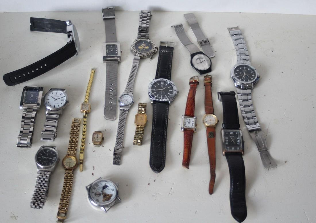 Lot of vintage mechanical and quartz 18 watches