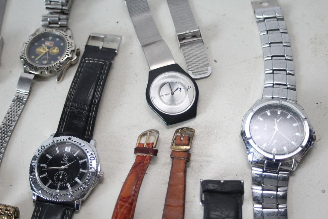 Lot of vintage mechanical and quartz 18 watches - 2