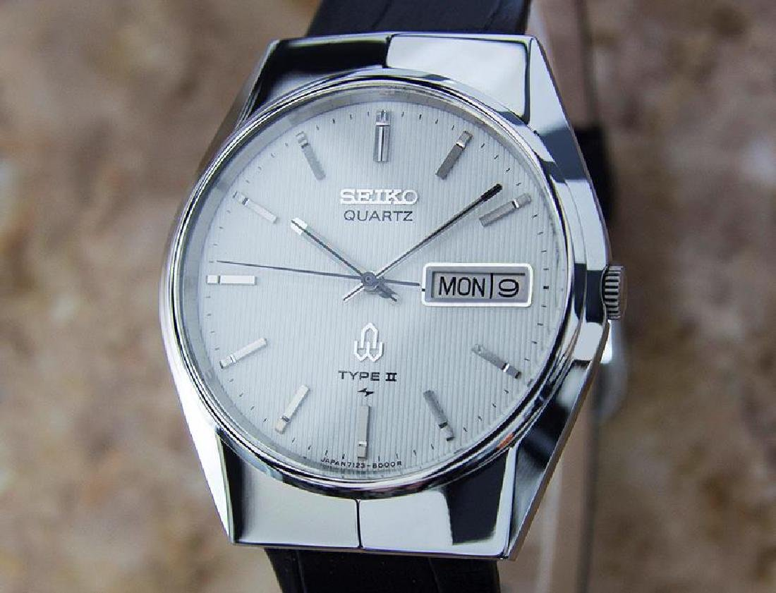 Seiko Type II Quartz 1980s Made in Japan Stainless