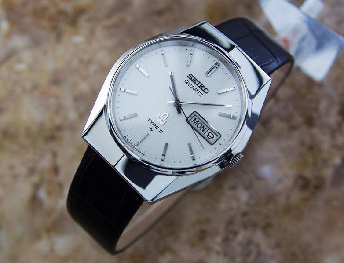 Seiko Type II Quartz 1980s Made in Japan Stainless - 2