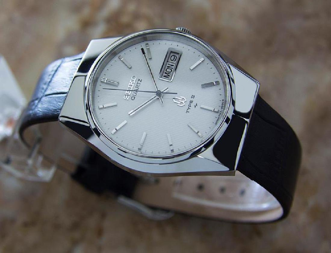 Seiko Type II Quartz 1980s Made in Japan Stainless - 3