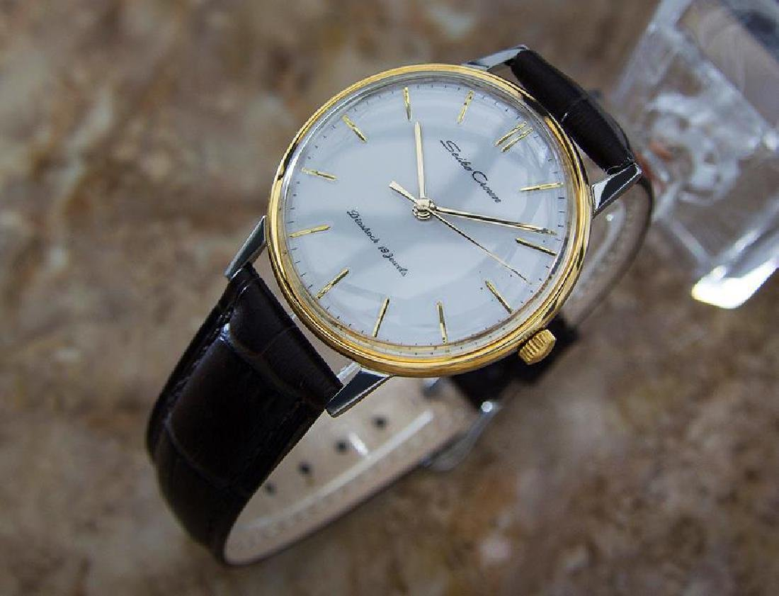 Seiko Crown 1960 Vintage Manual Japanese Stainless - 2