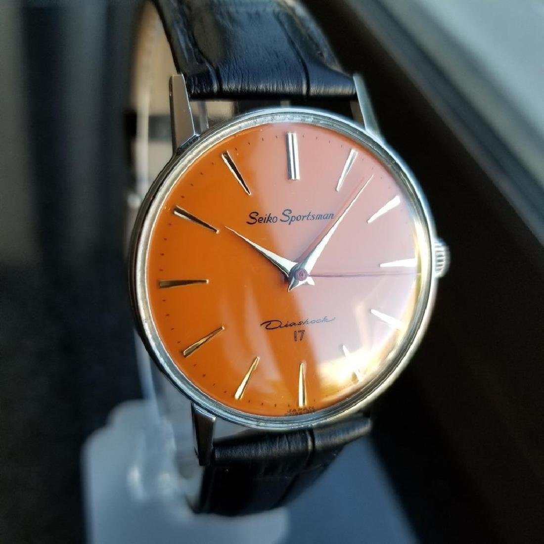 Seiko Vintage Sportsman 1960s Manual Wind 33mm Men's - 6