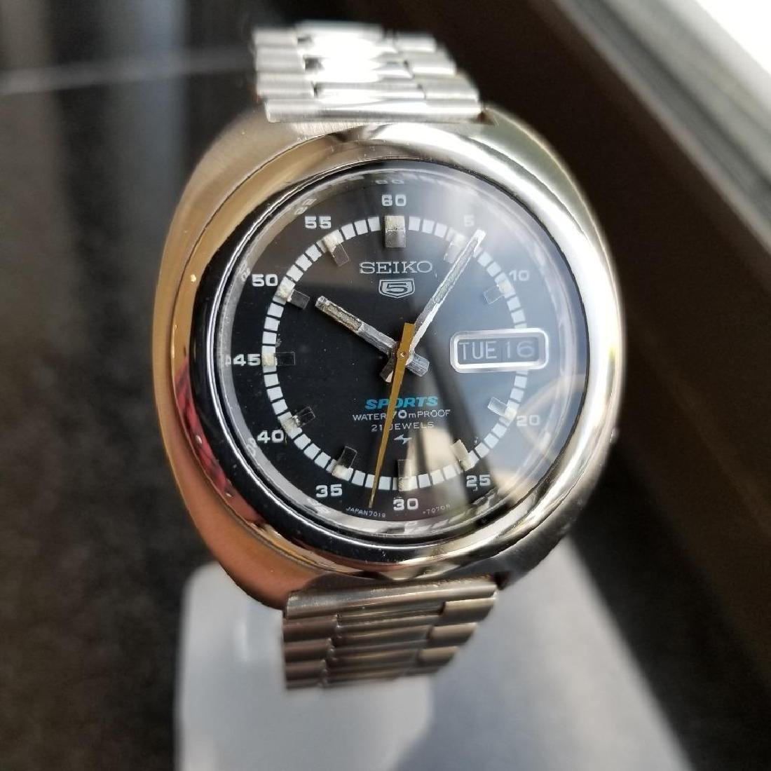 Seiko 5 Sports 39mm Automatic Stainless Men's Japan - 3