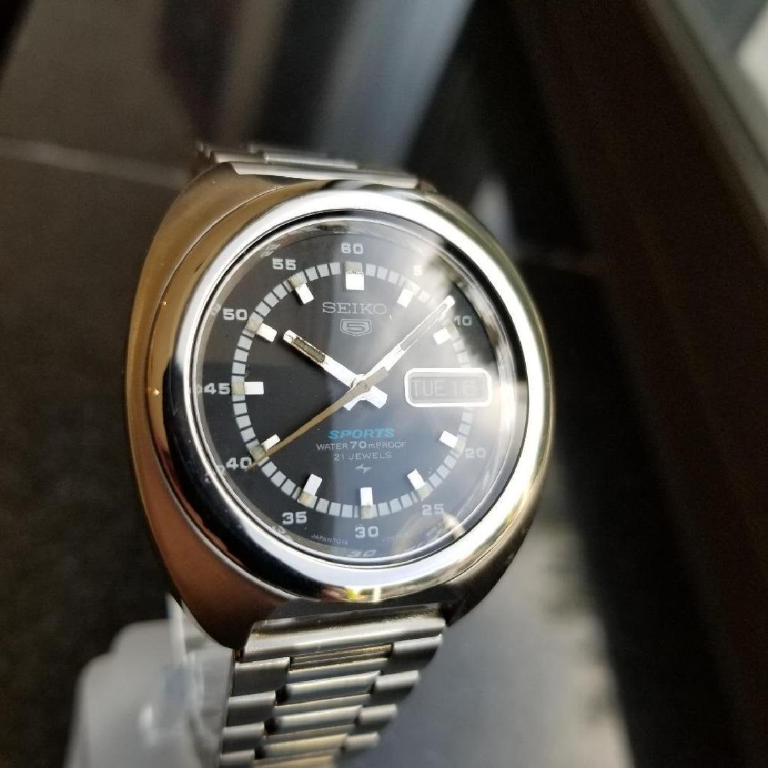 Seiko 5 Sports 39mm Automatic Stainless Men's Japan - 5