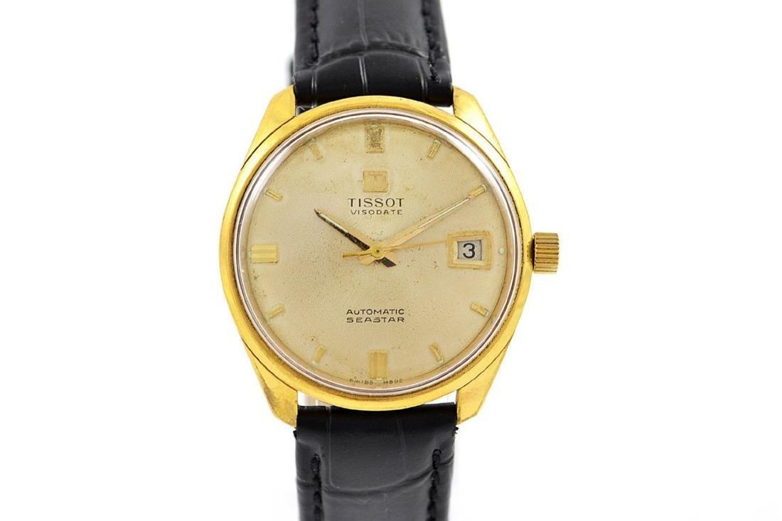 Vintage Tissot Seastar Visodate Midsize Gold Plated