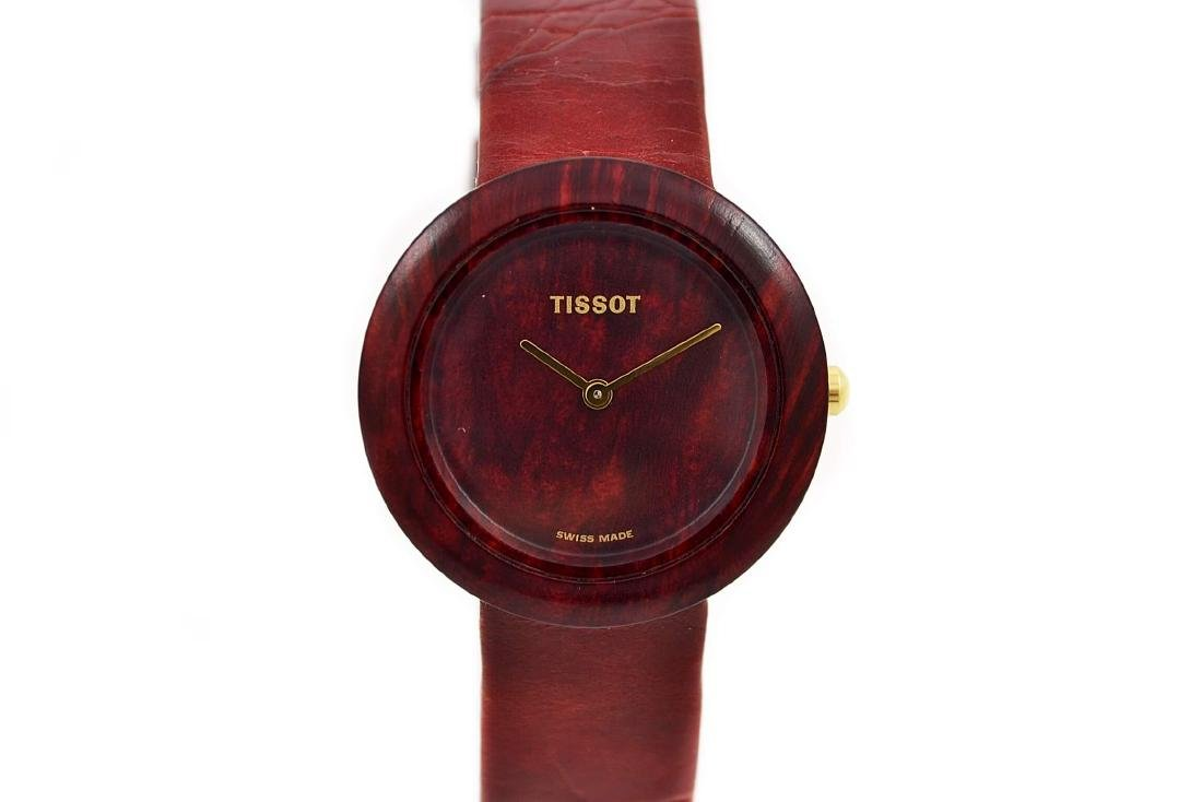 Tissot W150 Rare Collectable Wood Watch Quartz Midsize