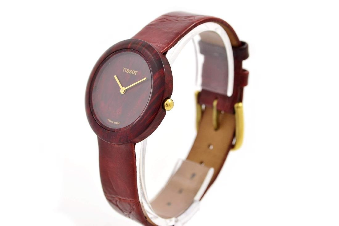 Tissot W150 Rare Collectable Wood Watch Quartz Midsize - 8