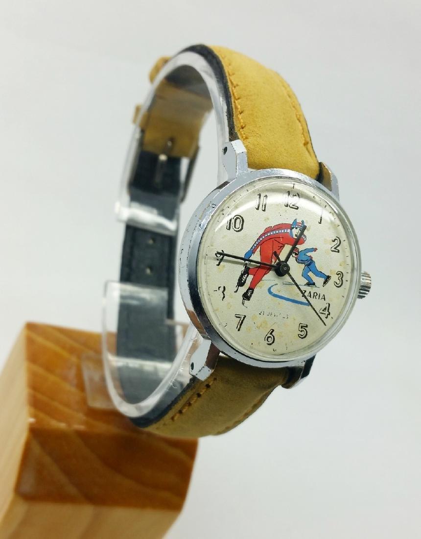 ZARiA Skiing figured dial ladies vintage wristwatch - - 2