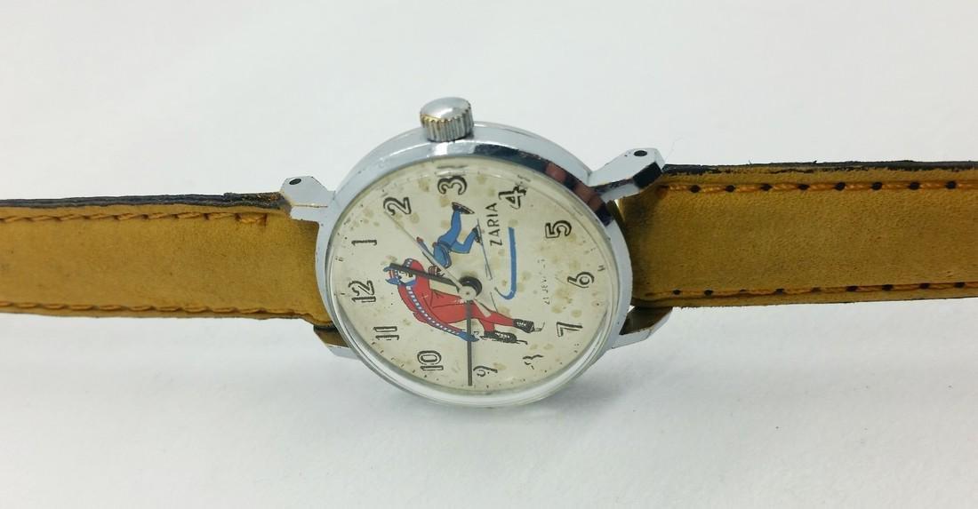 ZARiA Skiing figured dial ladies vintage wristwatch - - 6