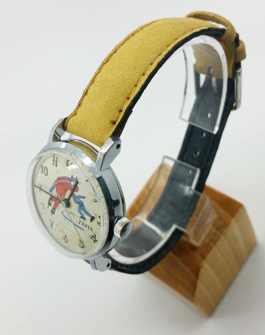 ZARiA Skiing figured dial ladies vintage wristwatch - - 8