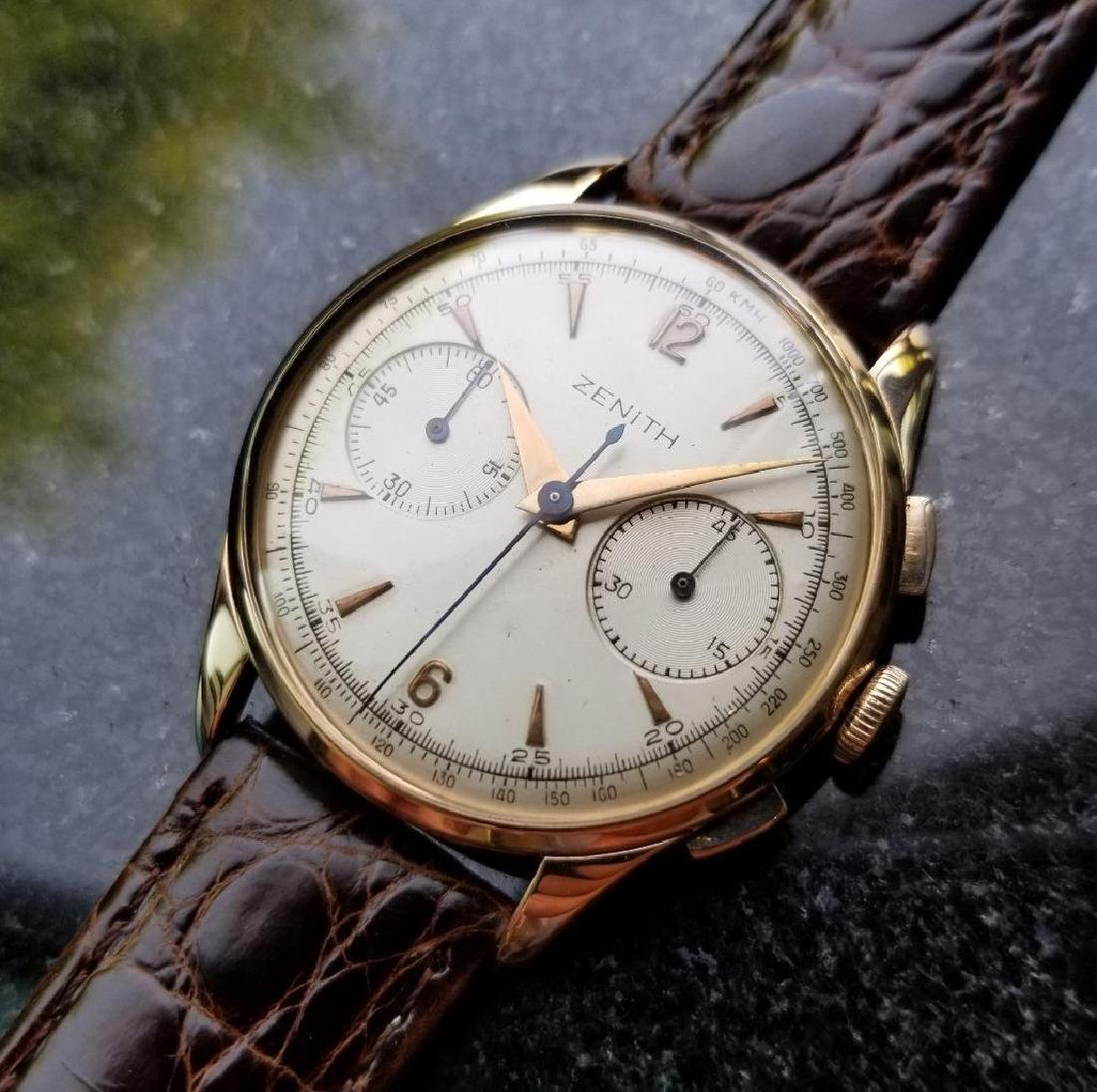Zenith Vintage 18K Solid Rose Gold 1960s Swiss Watch