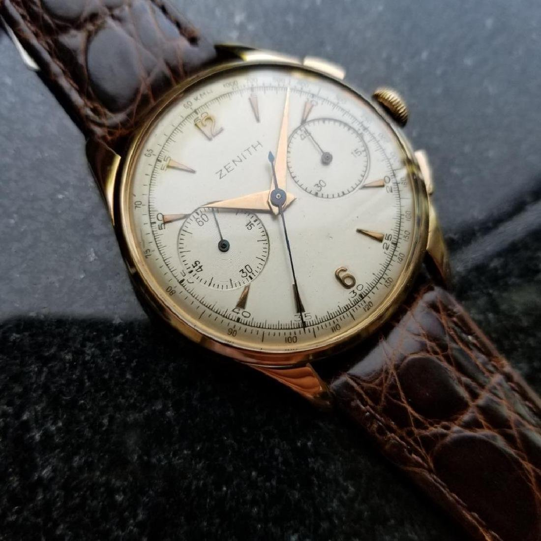 Zenith Vintage 18K Solid Rose Gold 1960s Swiss Watch - 3