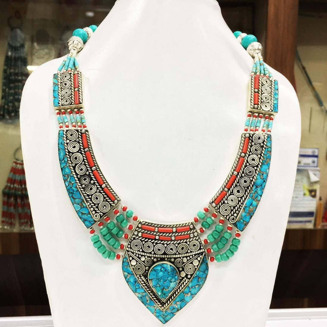Tribal Necklace Traditional Vintage Banjara Necklace