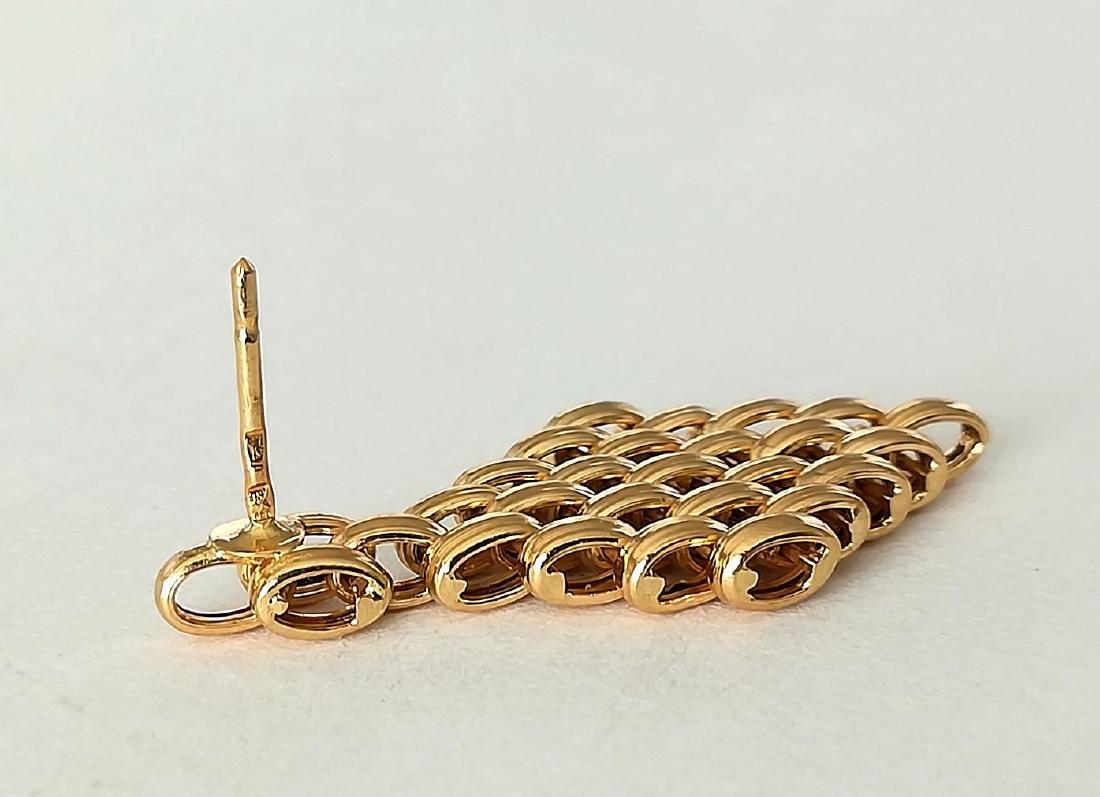 19.2 carats - gold earrings - 3