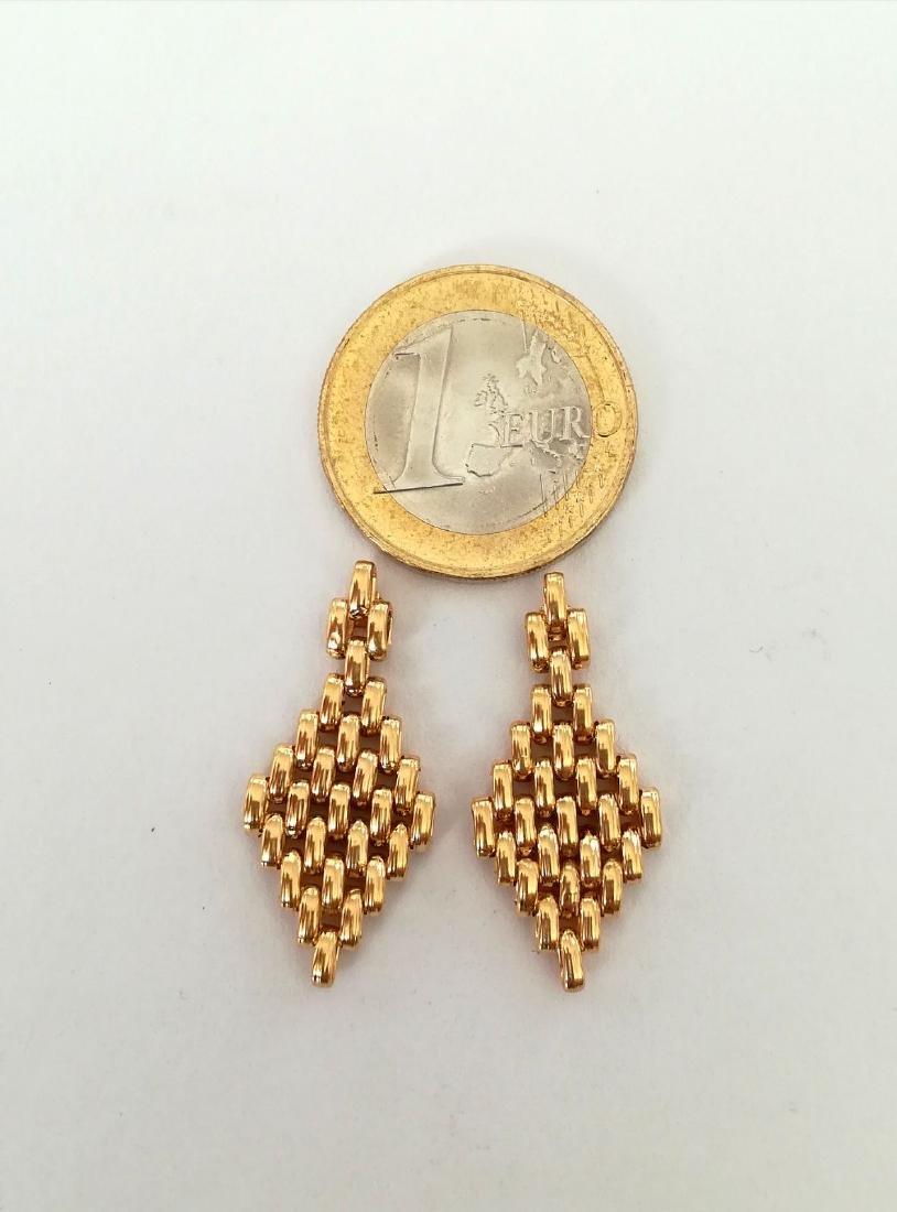 19.2 carats - gold earrings - 5