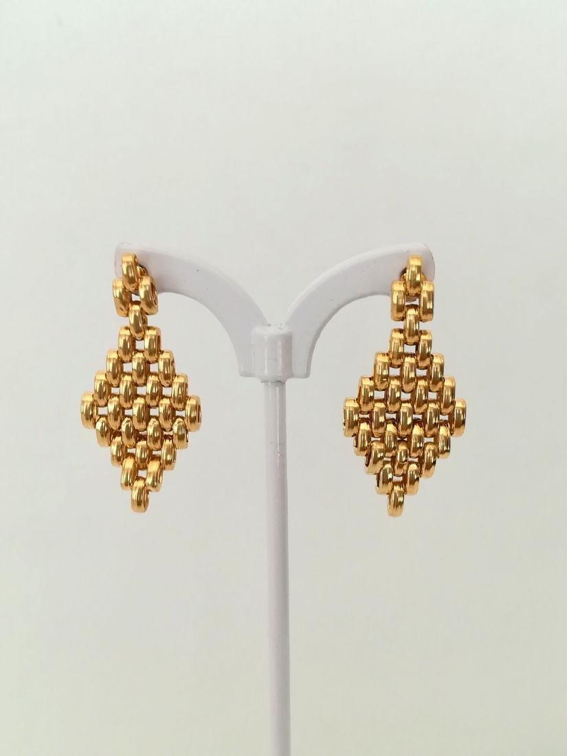 19.2 carats - gold earrings - 6