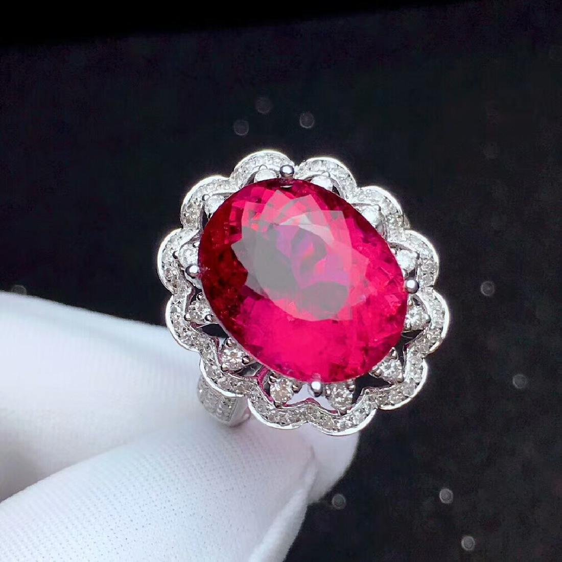 9.8ct Tourmaline Ring in 18kt White Gold - 2