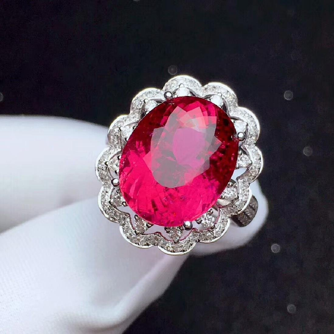 9.8ct Tourmaline Ring in 18kt White Gold - 3