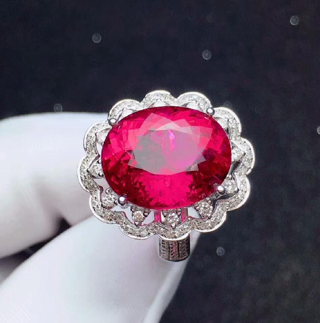 9.8ct Tourmaline Ring in 18kt White Gold - 4