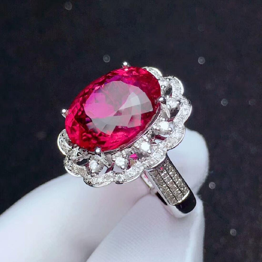 9.8ct Tourmaline Ring in 18kt White Gold - 5