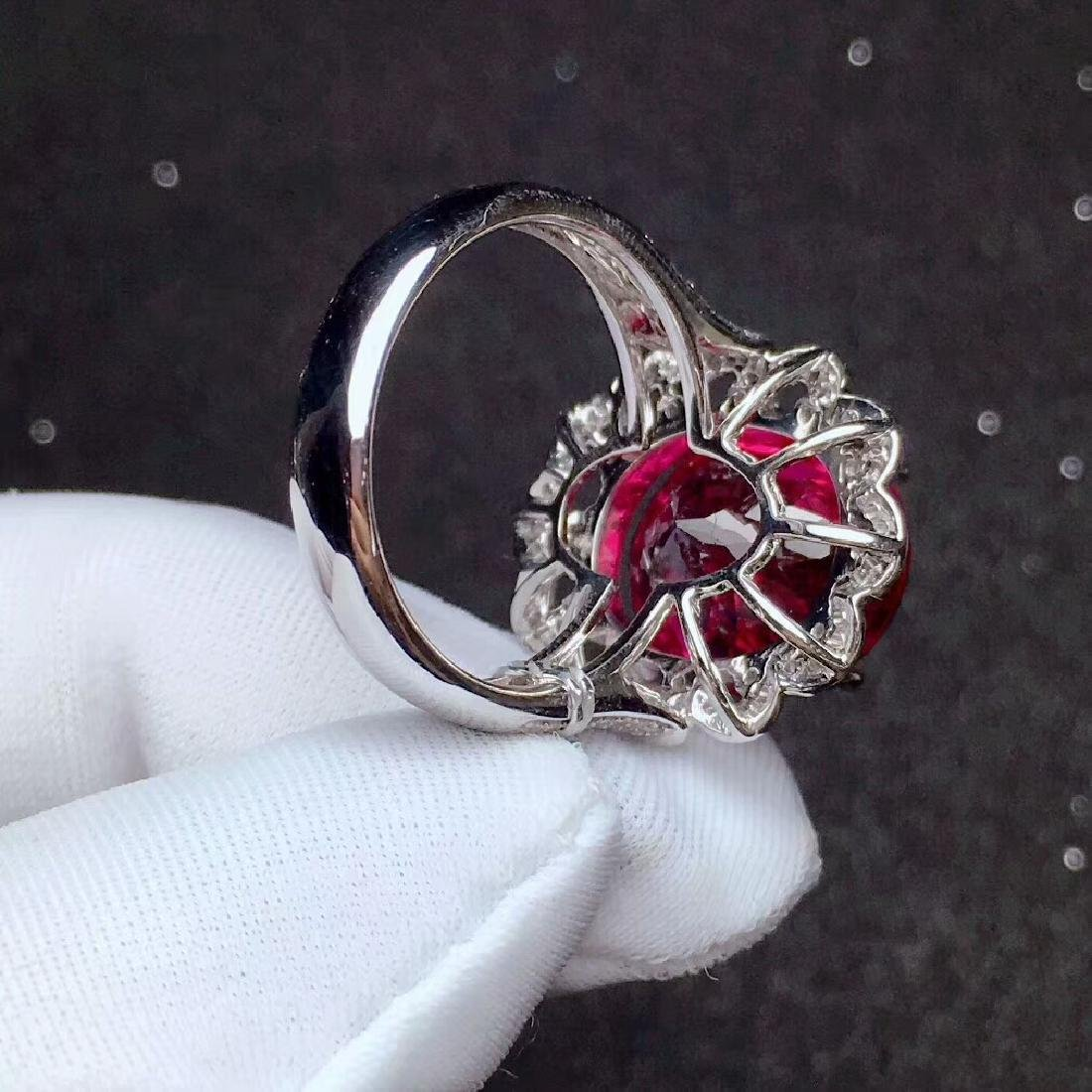 9.8ct Tourmaline Ring in 18kt White Gold - 6