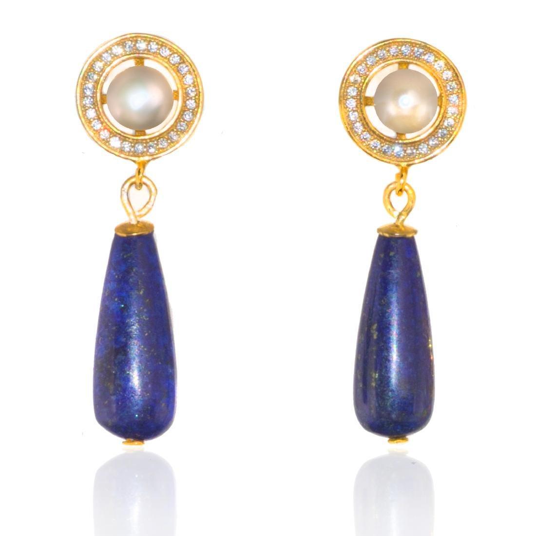 Afghan Lapis lazuli Earrings