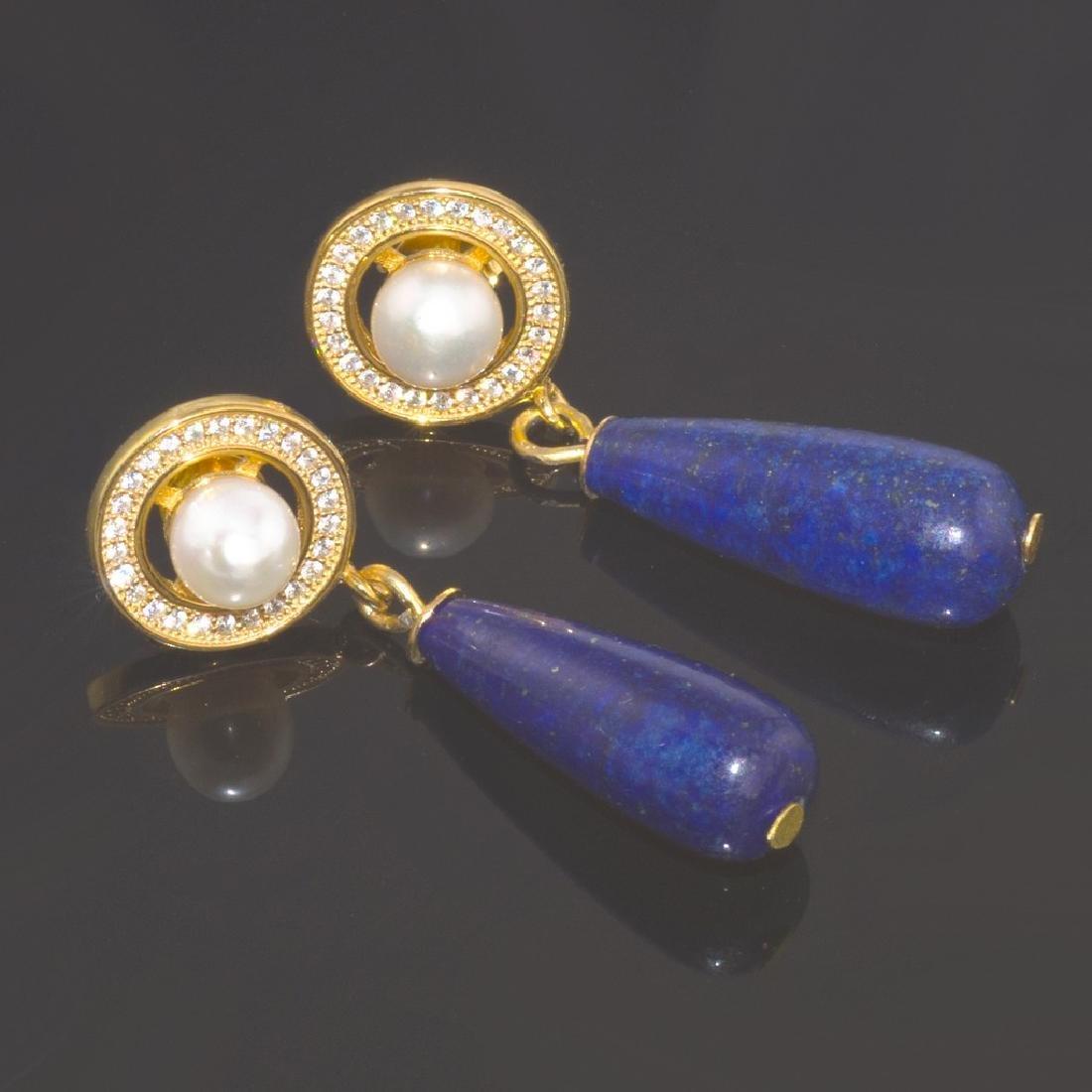 Afghan Lapis lazuli Earrings - 2