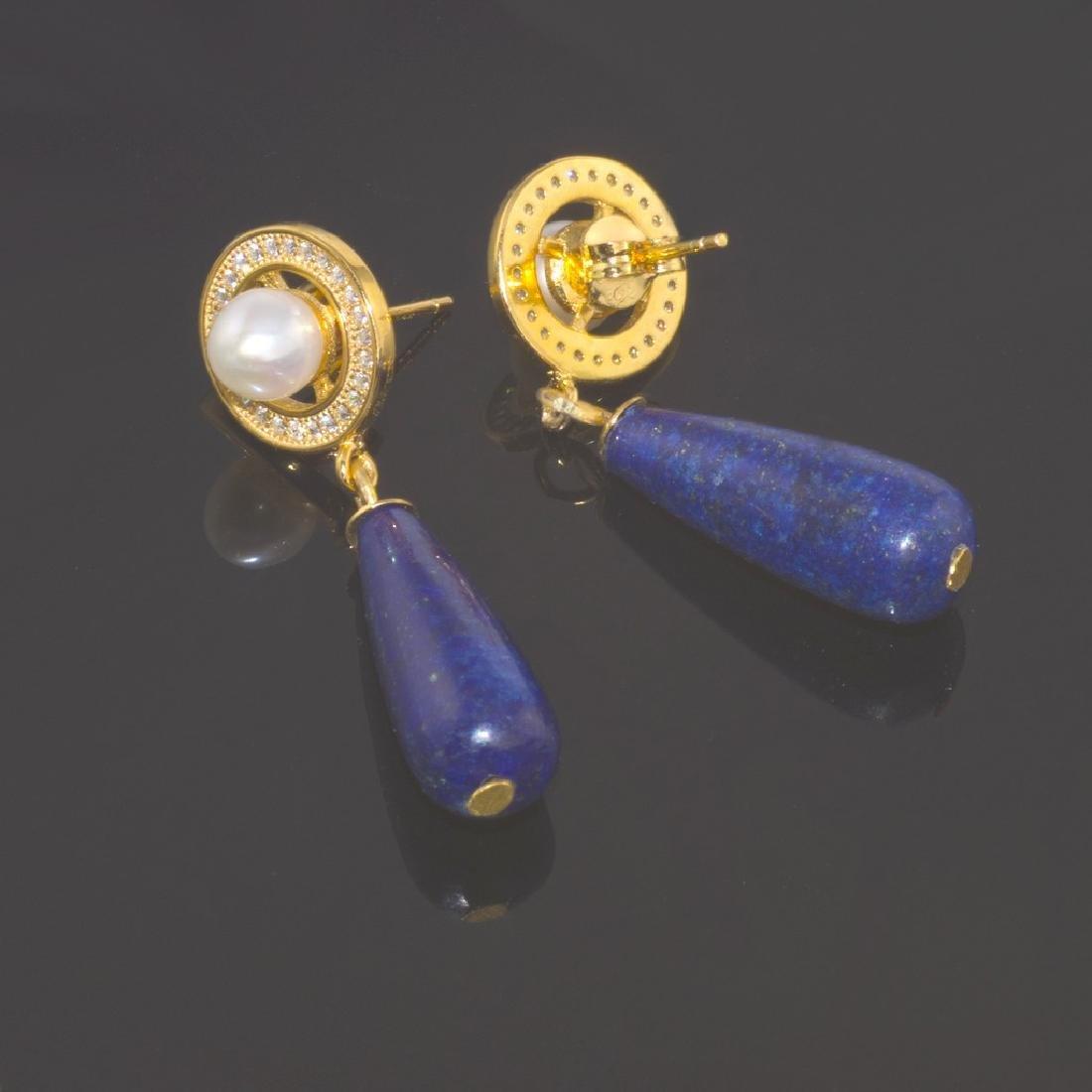 Afghan Lapis lazuli Earrings - 3