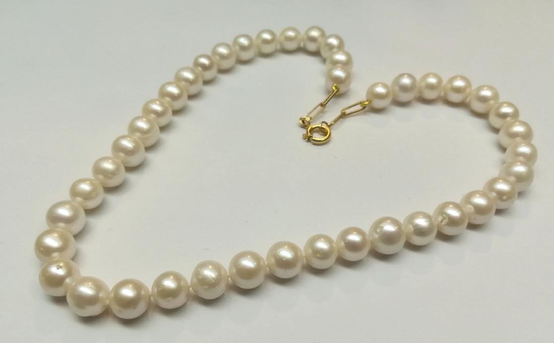 19.2 carats gold - necklace pearls water salt 10.5 mm - - 10