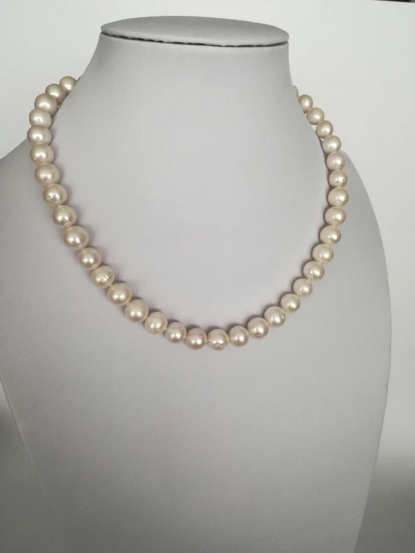19.2 carats gold - necklace pearls water salt 10.5 mm - - 3