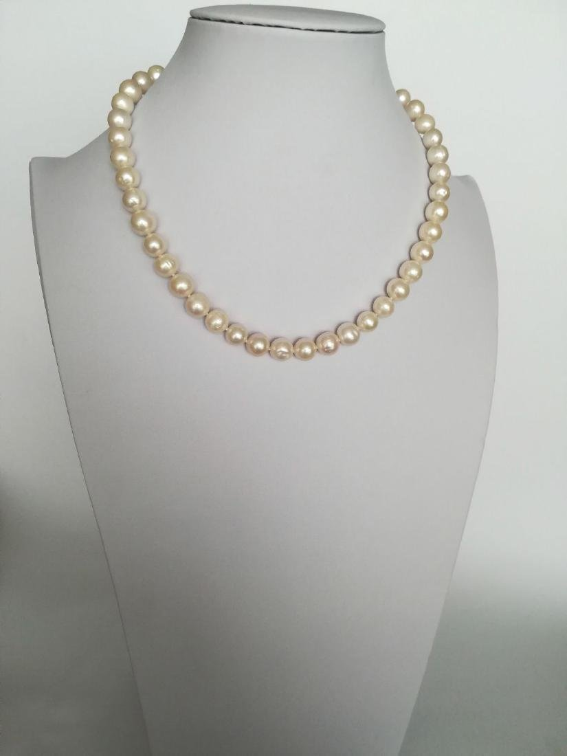 19.2 carats gold - necklace pearls water salt 10.5 mm - - 7