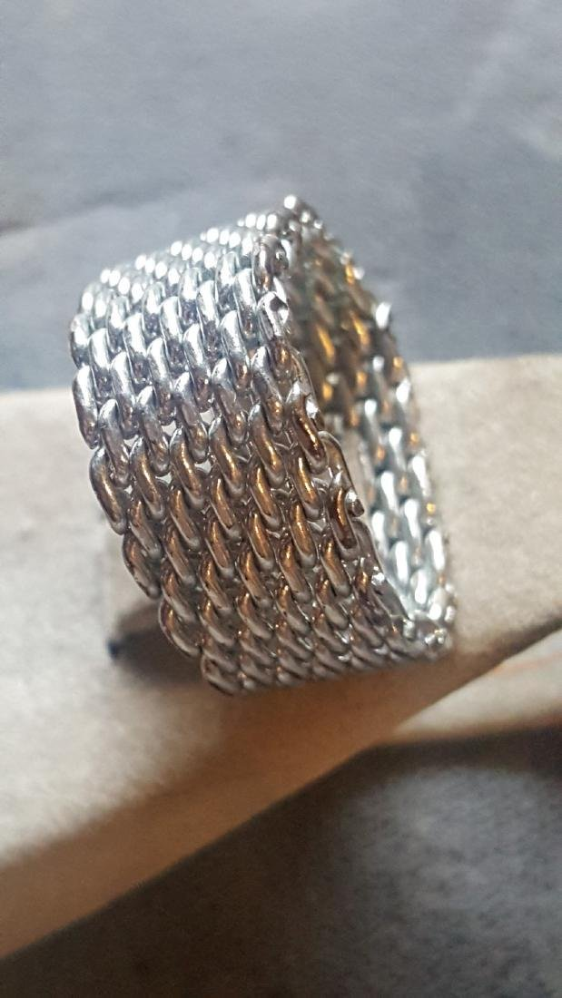 Silver Chainmail Ring - 2