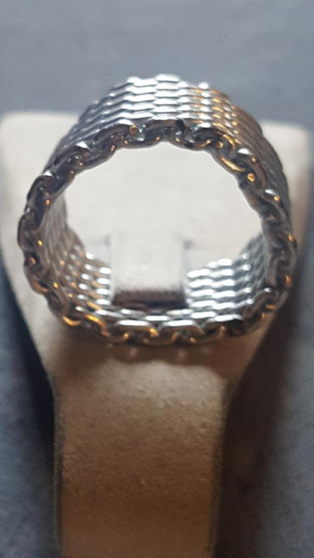 Silver Chainmail Ring - 3