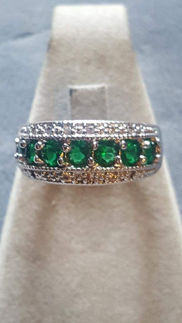 Radiant 925 Glass Cut Gem Ring
