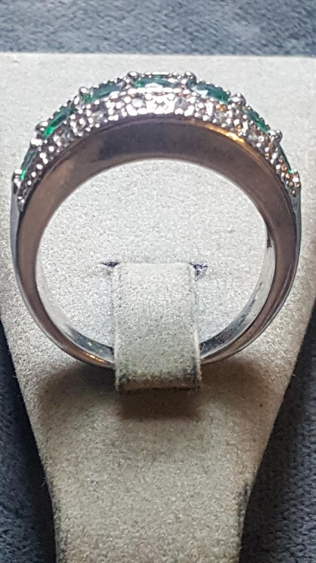 Radiant 925 Glass Cut Gem Ring - 3