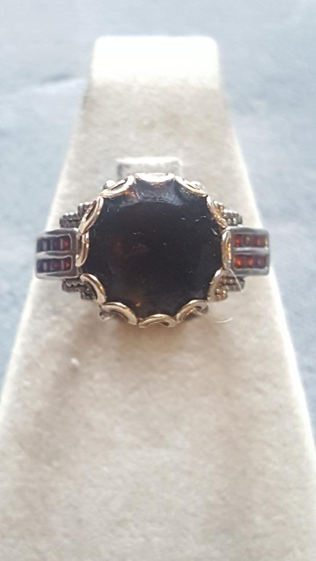 2 Tone Smoky Quartz Ring