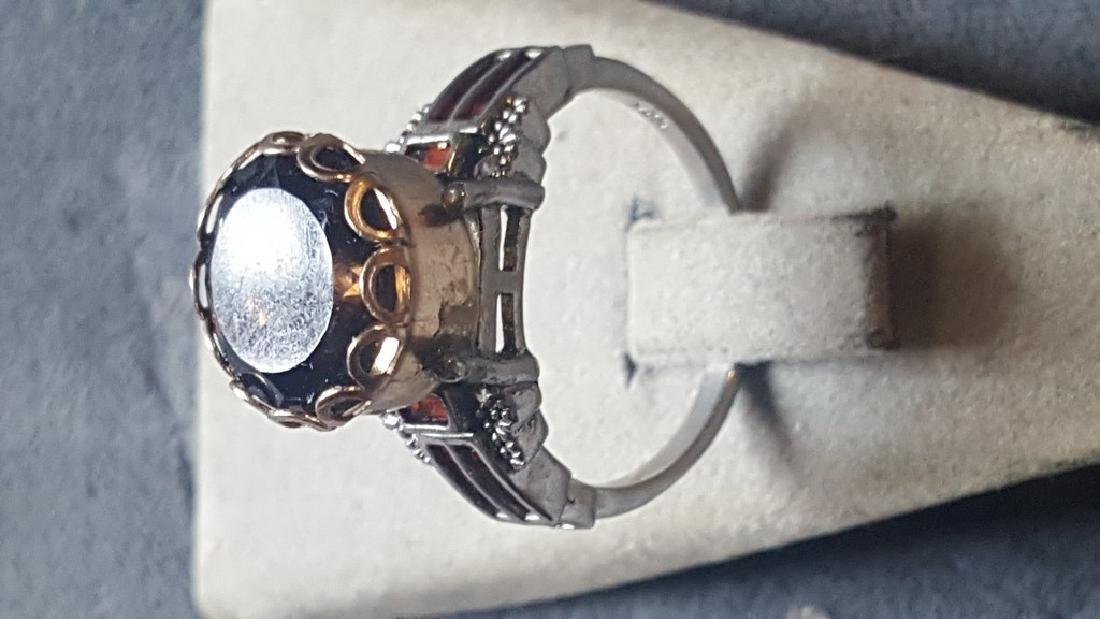 2 Tone Smoky Quartz Ring - 3