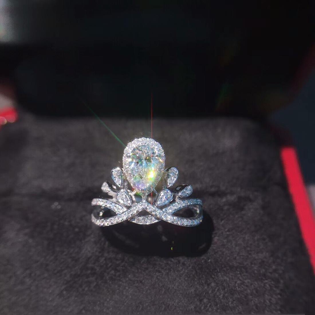 0.58 CTW VS Diamond Ring 18K - 2
