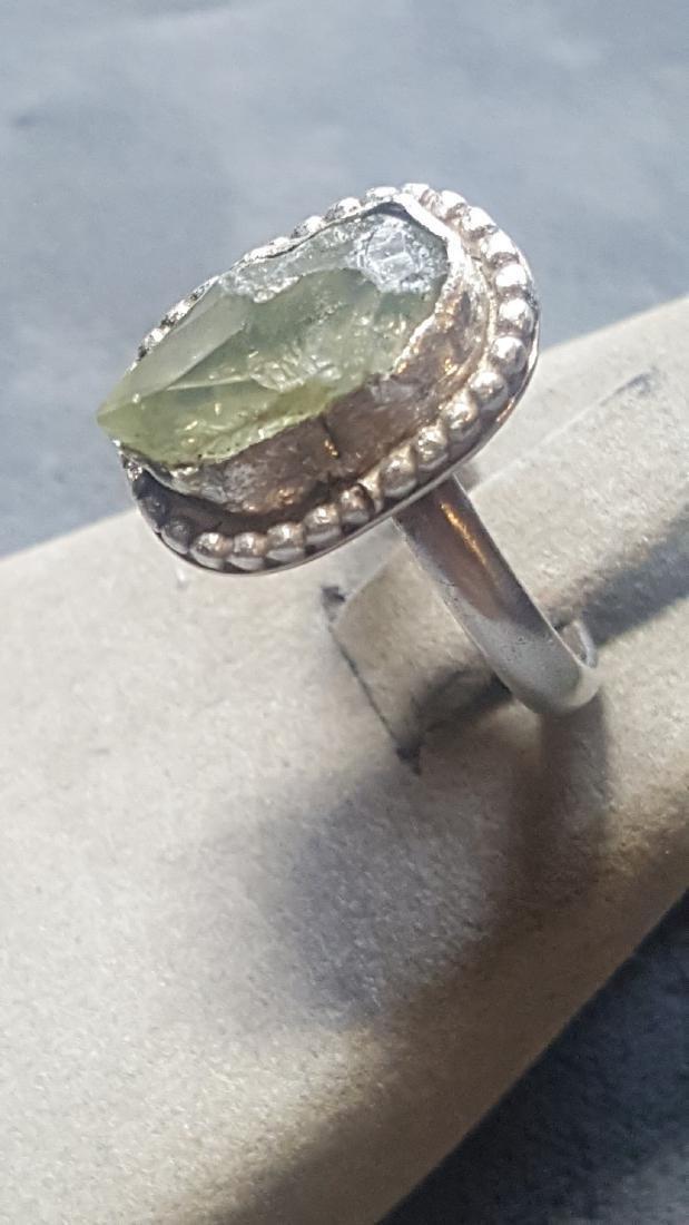 Vnt 5ct Green Diamond Rough 925 Rng - 2