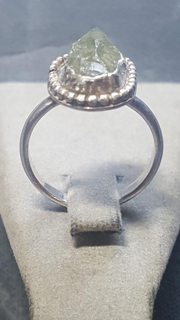 Vnt 5ct Green Diamond Rough 925 Rng - 3