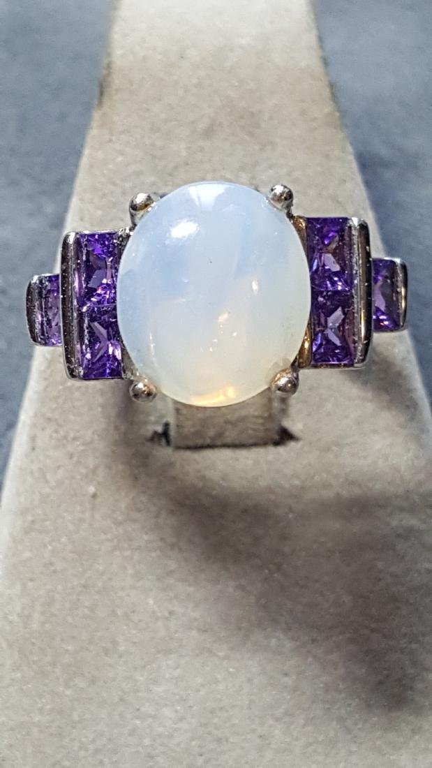 Opal and Amethyst 925 Ring