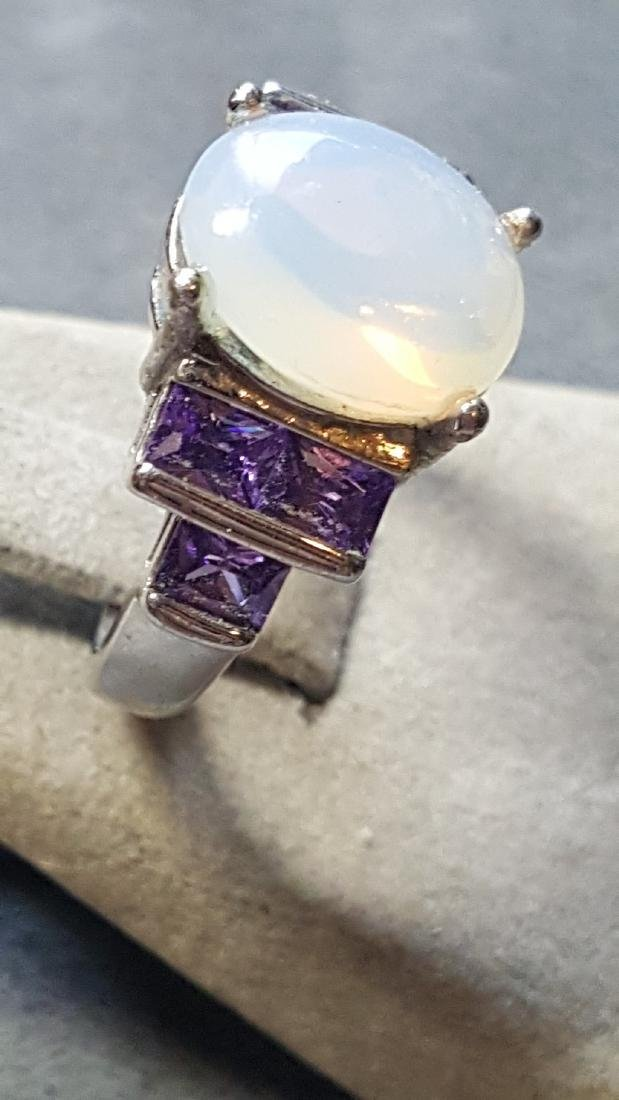 Opal and Amethyst 925 Ring - 2