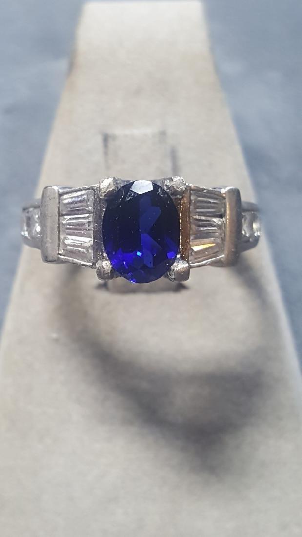 Vnt 925 2ct Sapphire Ring