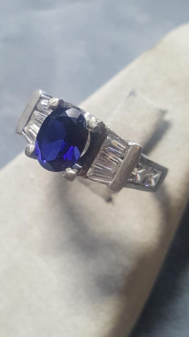 Vnt 925 2ct Sapphire Ring - 2