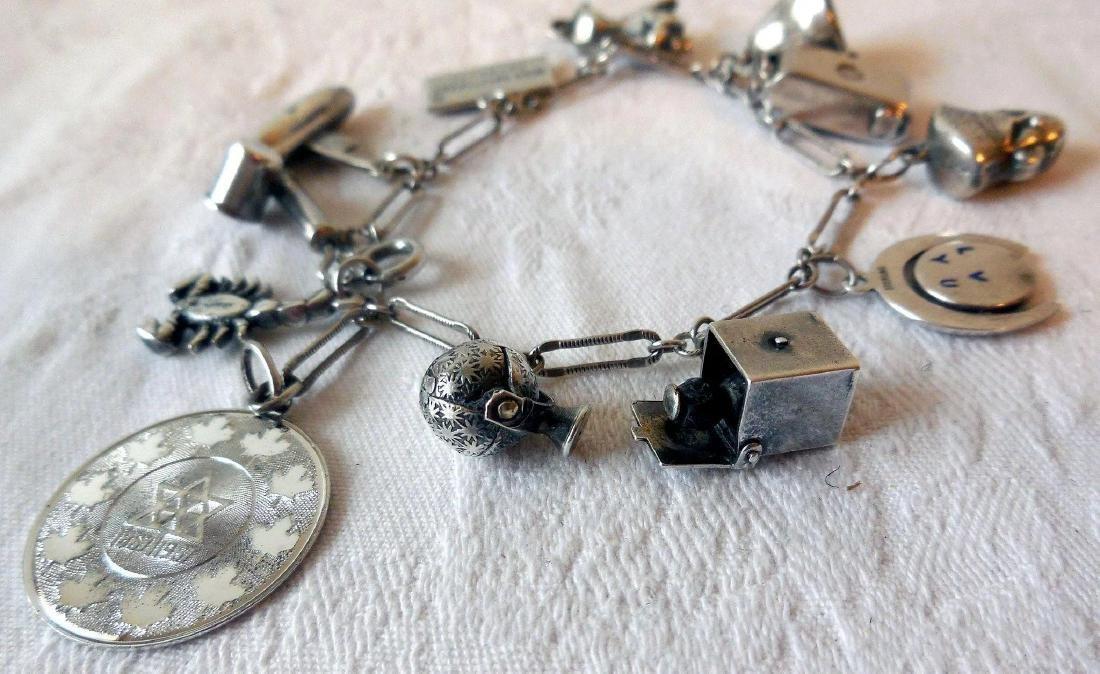Sterling Silver Charm Bracelet - 2