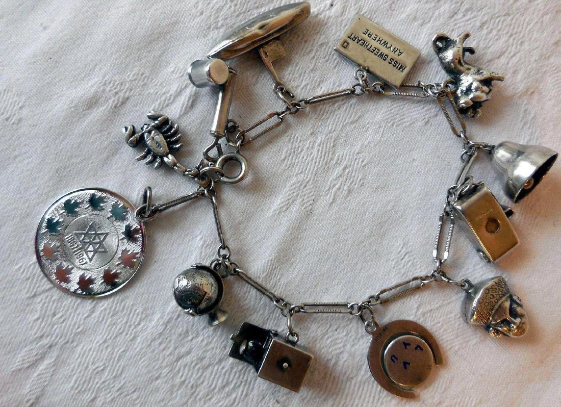 Sterling Silver Charm Bracelet - 3