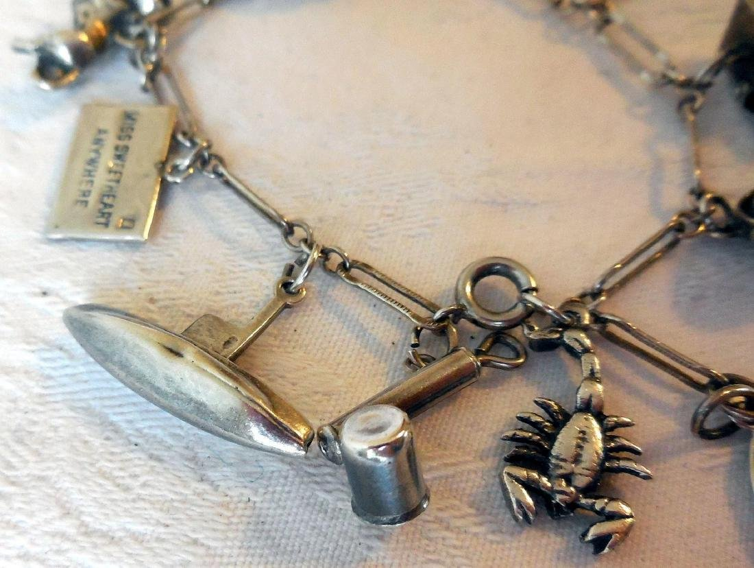 Sterling Silver Charm Bracelet - 4